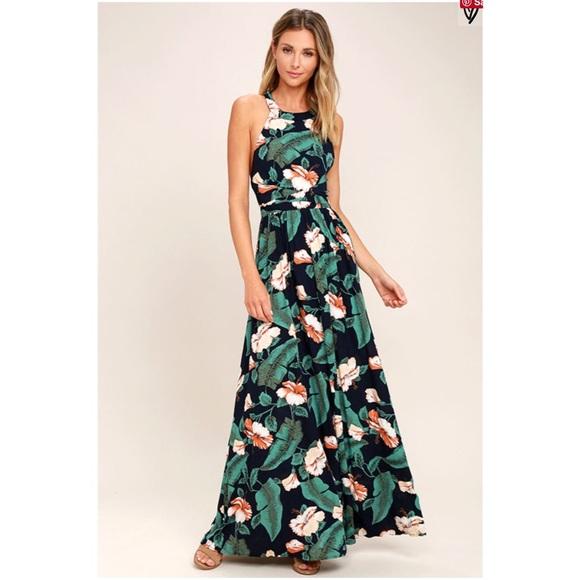 530fc8ccd4 Lulu s Dresses   Skirts - Temptation island floral print maxi dress